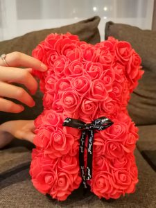 ours en fleur