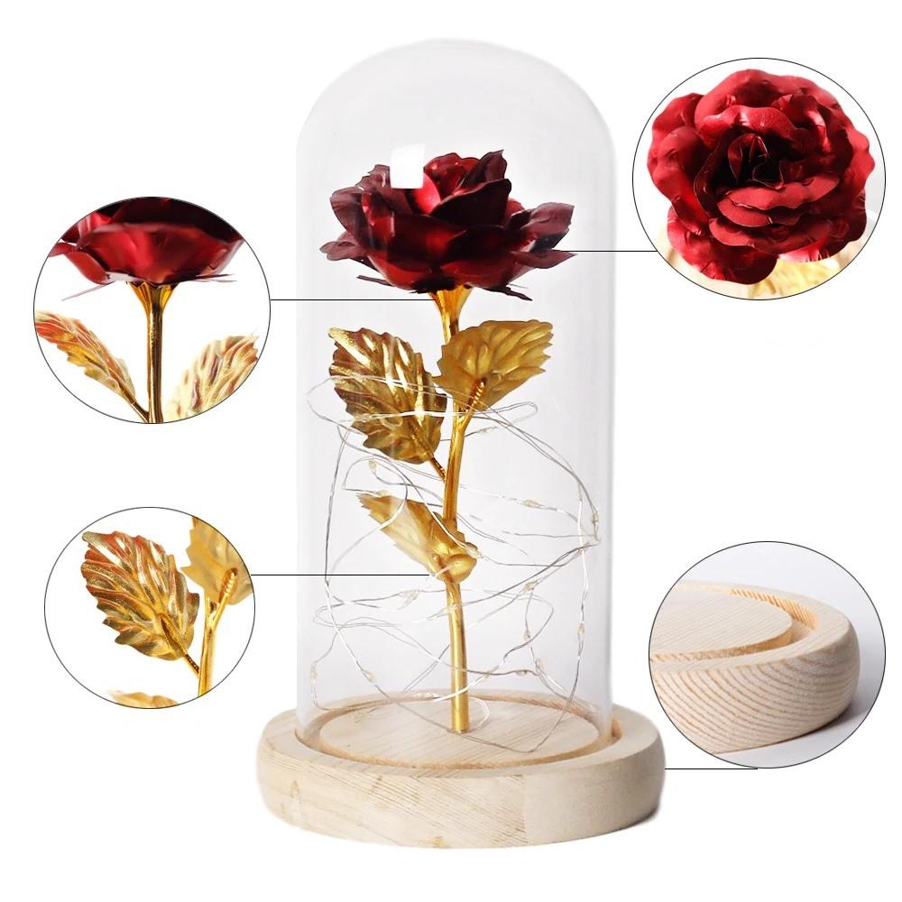 Le socle de votre Rose eternelle sous cloche
